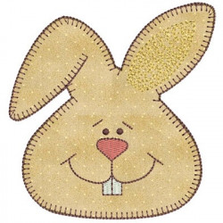 RABBIT APPLIQUE FACE II
