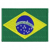 FLAG OF BRAZIL 7.5 CM WITH WRITING