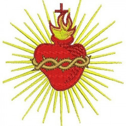 SACRED HEART 8 CM SACRED AND IMMACULATE HEART