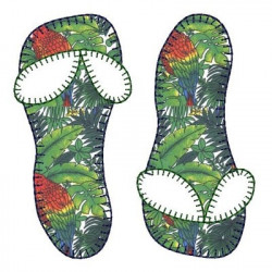 APPLIQUE SLIPPERS MARINE