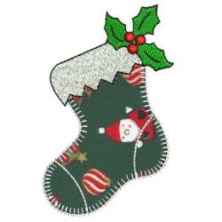 APPLIQUE CHRISTMAS BOOT