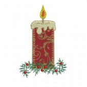 CHRISTMAS CANDLE OF APPLIQUE