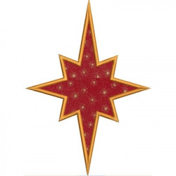STAR OF APPLIQUE CHRISTMAS CHRISTMAS