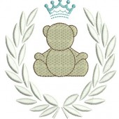 BRANCH WITH BEAR AND CROWN