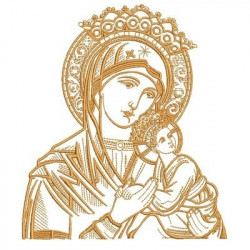 OUR LADY OF PERPETUAL HELP 16 CM VAZ. SAINTS SKIRTED