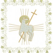 4 EMBROIDERED ALTAR CLOTHS - 1