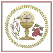 5 EMBROIDERED ALTAR CLOTHS - 17