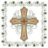 4 EMBROIDERED ALTAR CLOTHS - 23