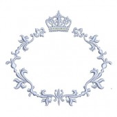 FLORAL FRAME WITH CROWN