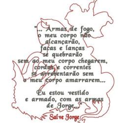 ORAÇÃO A SÃO JORGE 20 CM