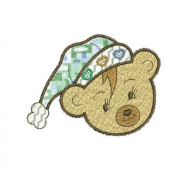 BEAR CAP APPLIQUE ANIMALS