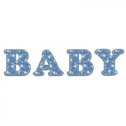BABY LYRICS APPLIQUE