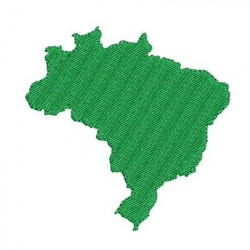 MAP OF BRAZIL 8 CM