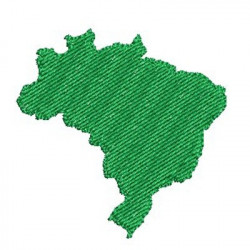 MAP OF BRAZIL 5 CM