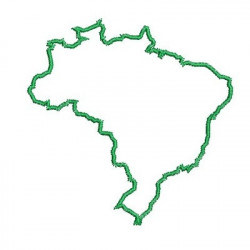 MAP OF BRAZIL  10 CM