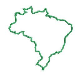 MAPA DO BRASIL CONTORNADO 10 CM