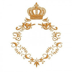 PROVENCE FRAME WITH CROWN BAPTIZED FRAMES