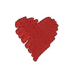 SCRAWLED HEART HEARTS