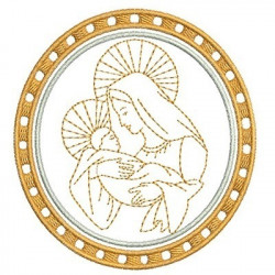 MEDAL OF MARY AND JESUS RELIGIOUS FRAMES