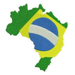 BRAZIL MAP 11 CM TOURISM