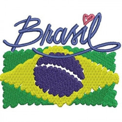 BRAZIL WITH FLAG TOURISM