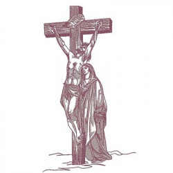 JESÚS CRUCIFICADO 22 CM SANTO CONTORNO