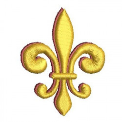 FLEUR DE LIS WITH SHADOW