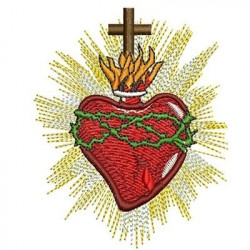 SACRED HEART OF JESUS 9 CM SACRED AND IMMACULATE HEART