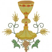 GOBLET WITH GRAPES 25 CM