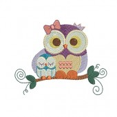 OWL MOTHER AND SON (A) 10 CM