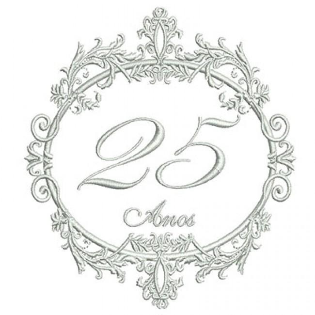 Moldura proven al bodas 25 anos - Marcos de plata para bodas ...
