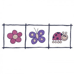 FRAME WITH FLOWER, BUTTERFLY AND LADYBUG FREE DESIGNS