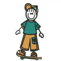BOY ON SKATEBOARD MALE CHILD