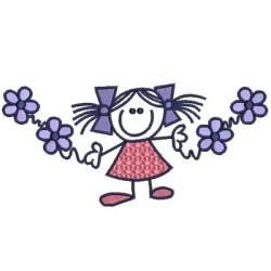 GIRL IN FLOWERS FEMALE CHILD
