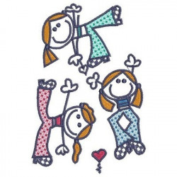 3 LITTLE GIRLS FEMALE CHILD