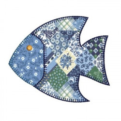 APPLIQUE FISH MARINE
