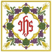 5 EMBROIDERED ALTAR CLOTHS - JHS 108