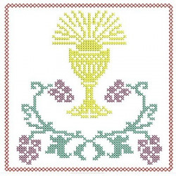5 EMBROIDERED ALTAR CLOTHS - CROSS STITCH