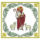 5 EMBROIDERED ALTAR CLOTHS - JESUS GOOD SHEPHERD 111