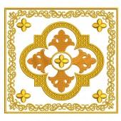 5 EMBROIDERED ALTAR CLOTHS - GOLDEN CROSS 112
