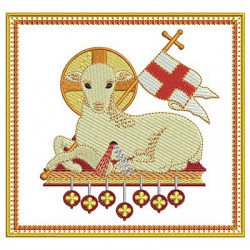 5 EMBROIDERED ALTAR CLOTHS LAMB 113