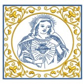4 EMBROIDERED ALTAR CLOTHS - MARY IMMACULATE 116