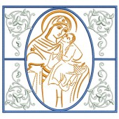 5 EMBROIDERED ALTAR CLOTHS - MERCY MOTHER 119