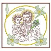 5 EMBROIDERED ALTAR CLOTHS - SAINT JOSEPH 121