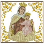 5 EMBROIDERED ALTAR CLOTHS - OUR LADY OF CARMEL