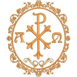 MEDAL PX ALPHA & OMEGA RELIGIOUS FRAMES