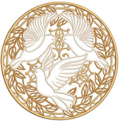 GOLDEN MEDAL WITH DOVES