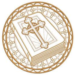 MEDALLA DORADA CON BIBLIA
