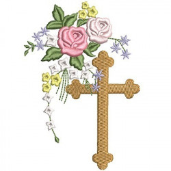 CROSS WITH FLOWERS 2
