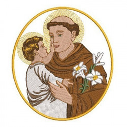 MEDAL SAINT ANTHONY 14CM